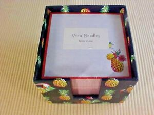 Vera Bradley Toucan Party Design Note Cube 24362 q60 Navy Pineapples New Navy