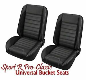 Sport R Pro Classic Complete Univeral Bucket Seat Set W Contrast Stitching
