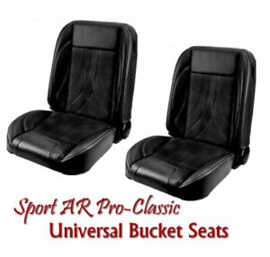 Sport Ar Pro Classic Complete Univeral Bucket Seat Set W Contrast Stitching