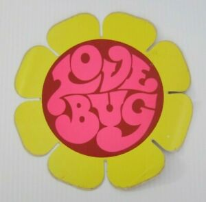Original Early 1970 s Vintage Volkswagen Love Bug Sticker Extremely Rare
