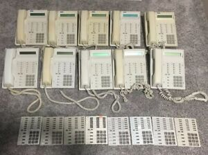 Lot Of 10 Rolm Rp624sl Gry Work Office Business Beige Phones Made In Usa As12