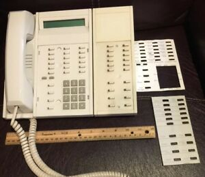 Vtg Busines Rolm Office Phone Rp624sl Gry Spk Siemens With Extension Module G