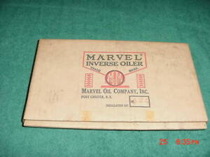 Vintage Marvel Mystery Inverse Oiler Kit No 424 Buick 2 Barrel In Original Box