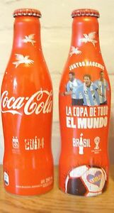 COCA COLA ALU EMPTY BOTTLE MESSI FIFA WORLD CUP BRAZIL 2014 FROM ARGENTINA