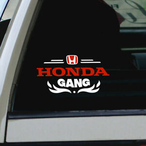 Honda Gang Car Vinyl Window Sticker Civic Accord Jdm Vtec Racing Logo