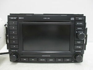 2007 Jeep Commander Radio Am Fm Cd Dvd Mp3 Navigation Face Id Rec Oem
