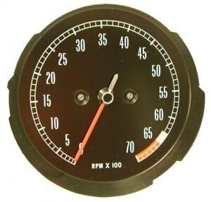 1965 1967 Corvette Tachometer Assembly With 6500 Rpm Red Line