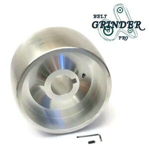 2 X 72 Belt Grinder Knife Grinder 4 Drive Wheel Crowned 7 8 Bore