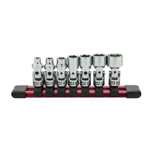 Sunex Tools 7 piece 1 4 In Drive Universal Socket Set Fractional Sae Fractiona