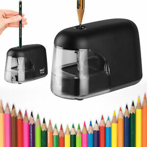 Electric Pencil Sharpener Battery Operated Automatic Sharpening School Classroom
