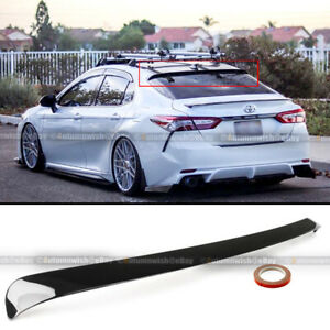 For 18 20 Camry Le Se Xse Xle Glossy Black Jdm Vip Rear Window Roof Spoiler Wing