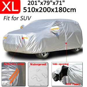 Xl Large Suv Full Car Cover Waterproof Outdoor Protector For Toyota Land Cruiser