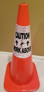 4 Pack Cone Sleeve Caution Work Above Window Cleaning