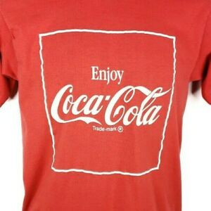 Coca Cola T Shirt Vintage 80s Soda Coke Single Stitch 50/50 Made In USA Large