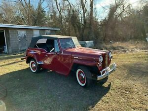 1948 1941 Willys Jeepster Convertible Top And Side Curtains