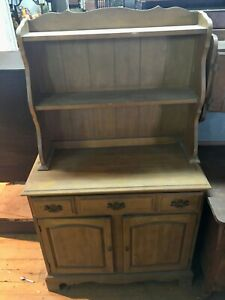 Hardrock Maple Step Back Buffet With China Display