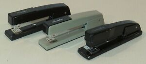 Lot Of 3 Vintage Swingline Staplers All Work Well