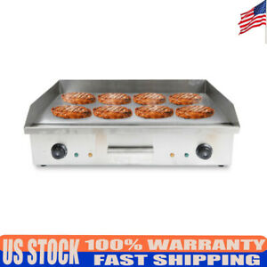 Electric Plate Countertop Griddle Flat Restaurant Grills Stainless Steel Bbq Usa
