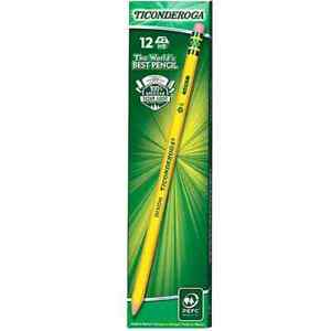 Ticonderoga Pencils Wood cased 2 Hb Soft Pre sharpened With Eraser Yellow