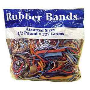 8 Oz Jumbo Pack Of Rubber Bands Assorted Sizes Colors