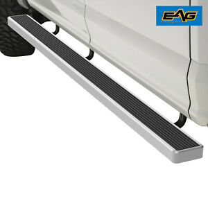 Eag Aluminum Running Board 80 x6 W brackets Fit 02 08 Ram 1500 Regular quad Cab