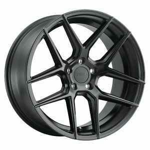 1 New Tsw Tabac Wheel Rim 17x8 5x112 Semi Gloss Black