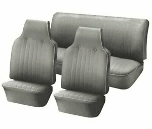 1968 1969 Vw Volkswagen Bug Beetle Slip On Seat Upholstery Gray In Stock