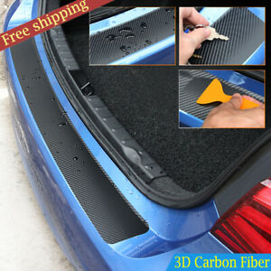 Auto Rear Bumper Trunk Tail Lip Carbon Fiber Protect Sticker Decal Car Styling