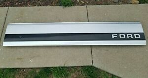 87 96 Ford F150 F250 F350 Tailgate Trim Panel Aluminum