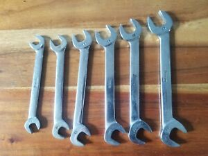 Snap On Metric 6 Piece 4 Way Angle Head Wrench Set 10mm Thru 17mm Part Vsm807b