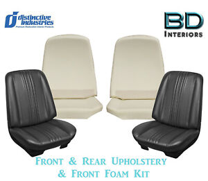 1970 Chevelle Bucket Rear Bench Upholstery Covers Any Color W Front Foam