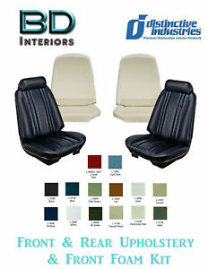 1969 Chevelle Coupe Front Bucket And Rear Seat Upholstery Covers W Front Foam