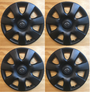 4x Black 15 Hubcap Wheel Cover Fit Toyota Camry 2000 2001 2002 2003 2004 2006