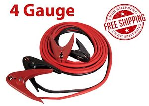 4 Gauge 20 Ft 600 Amp Parrot Clamp Booster Cables Fjc Inc 45234 Free Shipping