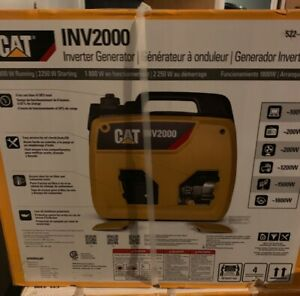 New Sealed Cat Inv2000 1800 Watts Portable Gas Powered Generator Inverter