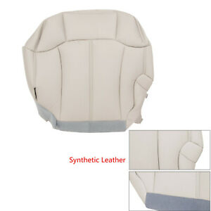 Tahoe Suburban Driver Bottom Leather Seat Cover Tan 1999 2000 2001 2002 Chevy