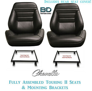 1965 Chevelle Convertible Touring Ii Front Bucket Seats Rear Cover