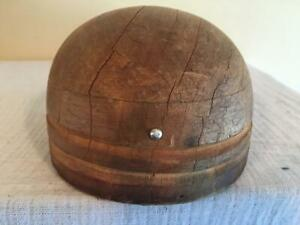 Wooden Block Round Fascinator Millinery Wood Block Hat Making Form Mold Brim