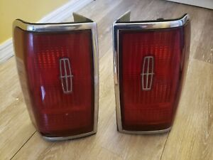 1997 Lincoln Towncar Rear Right And Left Tail Lights Brake Stop Lamp Oem