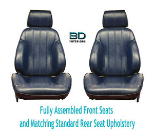1966 Chevelle Touring Ii Front Bucket Seats Assembled Std Rear Seat Upholstery