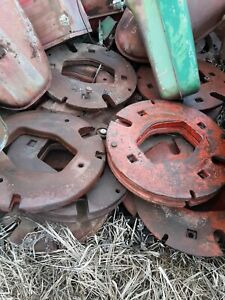 Pair Of International Harvester H m Tractor 1 Piece Rear Wheel Weights