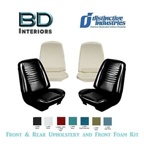 1967 Chevy Chevelle Coupe Bucket Seat Upholstery Front Foam Kit Any Color