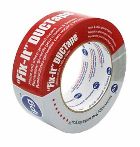 Intertape Duct Tape Ac10 Silver Half Case Of 12 Rolls 48mm X 50 4 M Wrapped