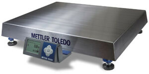 New Mettler Toledo Bc150 Shipping Scale 300lb Stainless Steel Platter Usb Rs232