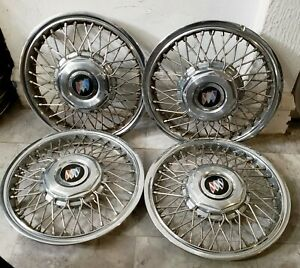 Set Of 4 Oem 1986 90 Buick Century 14 Wire Spoke Hubcaps Wheel Covers 10091787