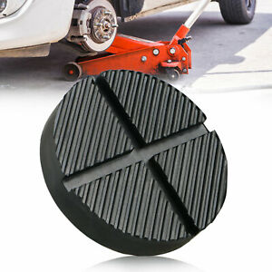 Cross Slotted Frame Rail Floor Jack Disk Rubber Pad For Pinch Weld Side Jackpad