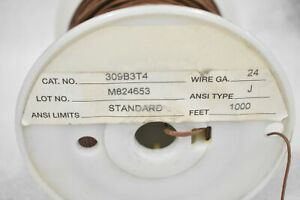 Honeywell 309b3t4 Bare Thermocouple Wire 24awg Ansi Type J Lot Of 200 Feet