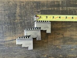 3 Lathe Chuck Jaws For Combination Marked 1 2 3 3 Step P n 2285