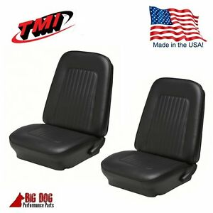 1967 1968 Camaro Coupe Front Rear Black Seat Upholstery In Stock By Tmi