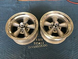 Rare Pair Of 2 Vintage Real Torque Thrust d Wheels 15 x 7 4 3 4 Chevy Crows